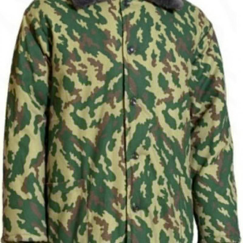 Куртка утепленная КМФ с мех. воротником