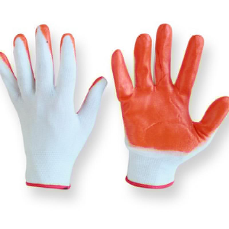 Перчатки  нейлоновые облитые латексом