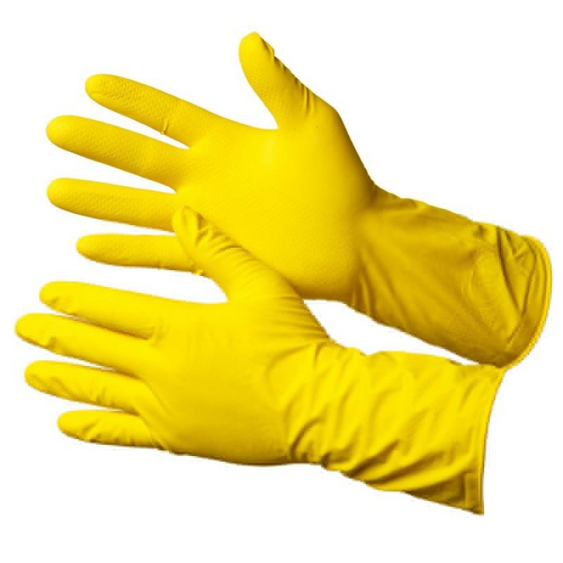 Перчатки хозяйственные с хлопковым напылением Gward Iris (G40)