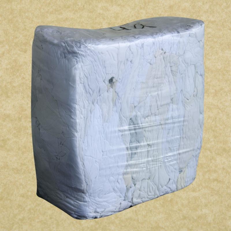 Ветошь белый трикотаж брикет (кг, упаковка 10 кг)