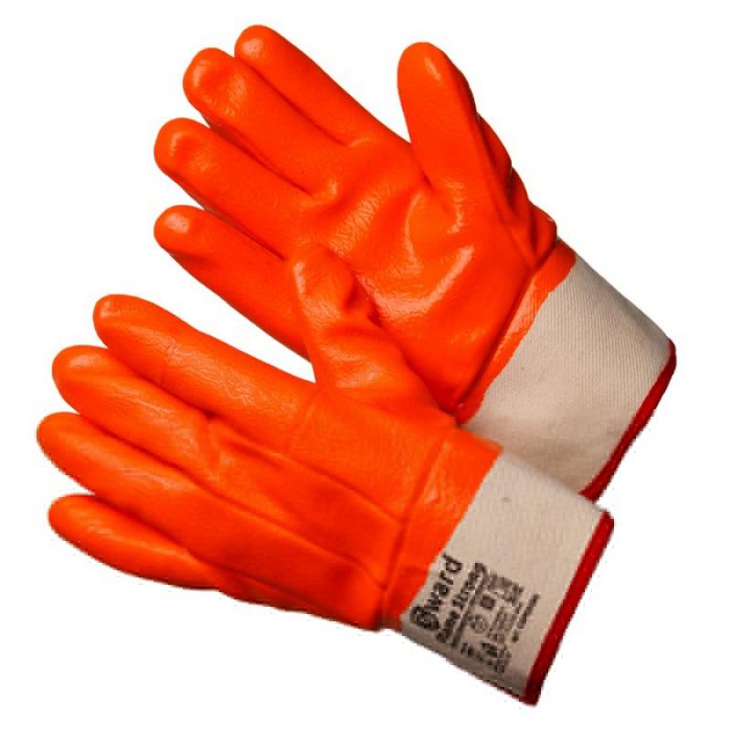 Перчатки утепленные с оранжевым МБС покрытием с манжетом крагой GWARD Flame Strong (GSP0228S)