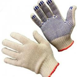 Перчатки трикотажные с ПВХ  6-ти нитка 10 кл