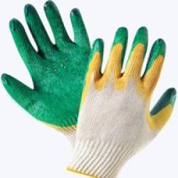 Перчатки трикотажные облитые двойной латекс