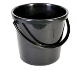 Ведро пластмассовое 10 литров, черное