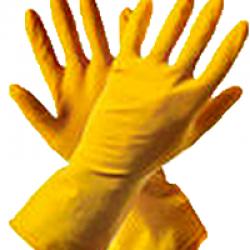 Перчатки хозяйственные с ворс подложкой